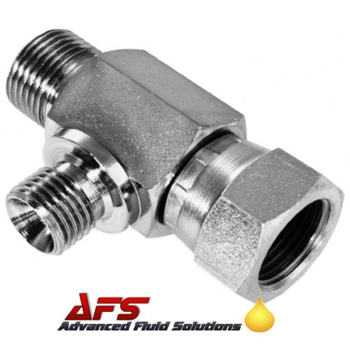 3/8 x 3/8 x 1/4 BSP Male x Female x Male Unequal Tee 3 Way Adaptor Coned